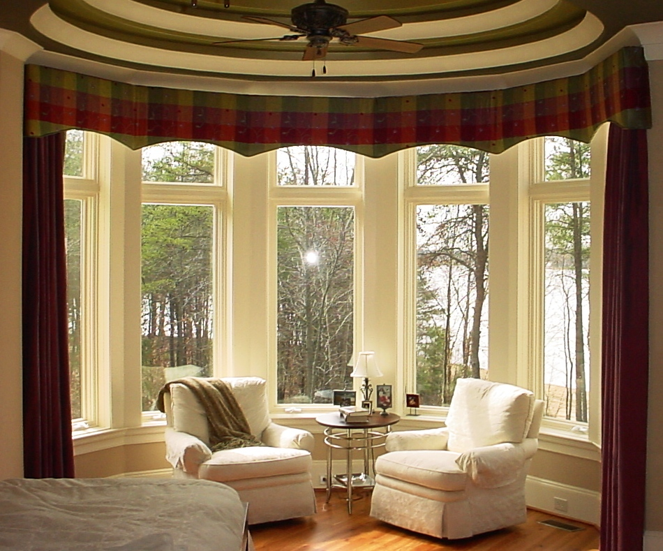 Bay window curtains for Bay window treatments ideas kitchen